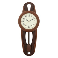 PCCW757_GOLDEN_BROWN-eCraftIndia-Brown-Round-Wooden-Pendulum-Wall-Clock_1