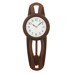 PCCW757_ROSEWOOD-eCraftIndia-Brown-Round-Wooden-Pendulum-Wall-Clock_1