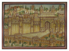 PPAP004-eCraftIndia-The-Amer-Fort-Original-Art-Paper-Painting_1