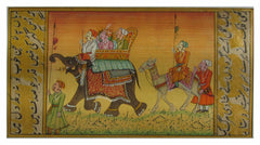 PPAP005-eCraftIndia-Procession-with-Elephant-and-Camel-Original-Art-Paper-Painting_1