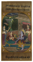 PPAP030-eCraftIndia-Luxurious-Krishna-with-Radha-and-Gopis-Original-Art-Paper-Painting_1