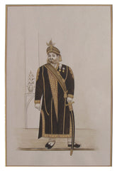 PPAP035-eCraftIndia-Prince-of-Royal-Kingdom-Original-Art-Paper-Painting_1