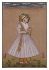 PPAP050-eCraftIndia-Portrait-of-Mughal-Prince-Original-Art-Paper-Painting_1