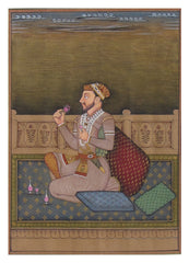PPAP053-eCraftIndia-Prince-enjoying-at-the-Court-Original-Art-Paper-Painting_1