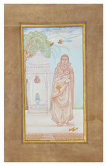 PPAP054-eCraftIndia-Queen-Praying-to-Lord-Shiva-Original-Art-Paper-Painting_1