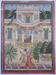 PPAP081-eCraftIndia-Lord-Krishna-with-Radha-Original-Art-Paper-Painting_1