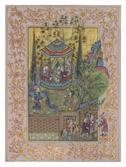 PSILK001-eCraftIndia-Mughal-Court-Original-Art-Silk-Painting_1