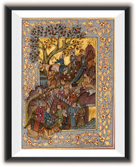 PSILK002a-eCraftIndia-Scene-of-Mughal-Court-Original-Art-Silk-Painting_1