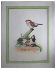 PSILK007-eCraftIndia-Miniature-Brown-Sparrows-Original-Art-Silk-Painting_1