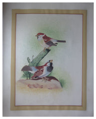PSILK008-eCraftIndia-Miniature-Brown-Sparrows-Original-Art-Silk-Painting_1