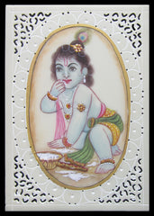 PSYN003-eCraftIndia-Baby-Krishna-Original-Art-Synthetic-Plastic-Sheet-Painting_1