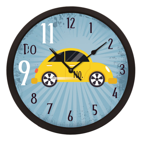 "ecraftindia-""taxi-no.-9-do-11""-designer-round-analog-black-wall-clock_1"