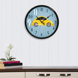 "ecraftindia-""taxi-no.-9-do-11""-designer-round-analog-black-wall-clock_2"