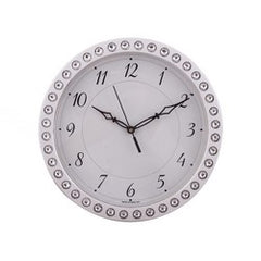 eCraftIndia Decorative Retro Round Silver Wall Clock