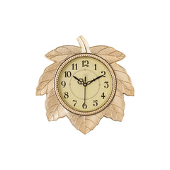 ecraftindia-leaf-shape-retro-golden-wall-clock_1