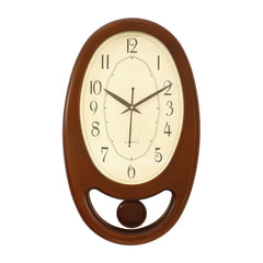 PWCK707_GLD BROWN-eCraftIndia-Golden-Brown-Plastic-Vertical-Pendulum-Analog-Wall-Clock-(15.5*9.5-Inches)_1