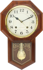"PWCK727_GOLD_BR-eCraftIndia-Golden-Brown-Plastic-Vertical-Analog-Pendulum-Wall-Clock-(10.5""-x-17.5""-Inch-
