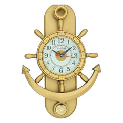 PWCPLZ102_G-eCraftIndia-Decorative-Retro-Anchor-Golden-Pendulum-Wall-Clock_1