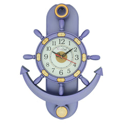 PWCPLZ102_PUR-eCraftIndia-Decorative-Retro-Anchor-Blue-Pendulum-Wall-Clock_1