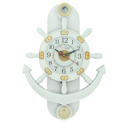 PWCPLZ102_W-eCraftIndia-Decorative-Retro-Anchor-White-Pendulum-Wall-Clock_1