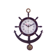 ecraftindia-decorative-retro-anchor-brown-pendulum-wall-clock_1