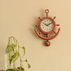 ecraftindia-decorative-retro-anchor-copper-pendulum-wall-clock_1