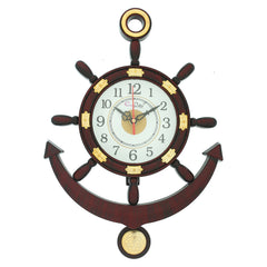 PWCPLZ502_BR-eCraftIndia-Decorative-Retro-Anchor-Brown-Pendulum-Wall-Clock_1