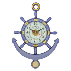 PWCPLZ502_PUR-eCraftIndia-Decorative-Retro-Anchor-Blue-Pendulum-Wall-Clock_1