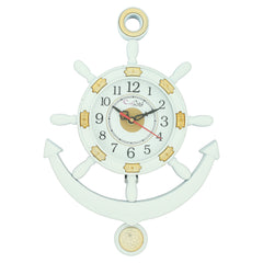 PWCPLZ502_W-eCraftIndia-Decorative-Retro-Anchor-White-Pendulum-Wall-Clock_1