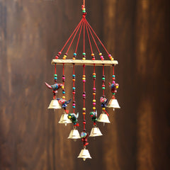 STRBIRD499--eCraftIndia-Handcrafted-Decorative-Parrot-Wall/Door/Window-Hanging-Bells_1