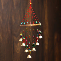 STRELE499--eCraftIndia-Handcrafted-Decorative-Elephant-Wall/Door/Window-Hanging-Bells_1