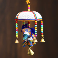 STRELE502--eCraftIndia-Handcrafted-Decorative-Elephant-Wall/Door/Window-Hanging-Bells_1
