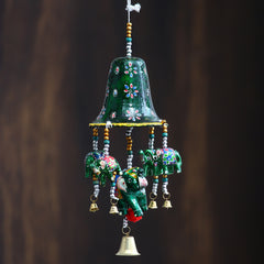 STRELE503--eCraftIndia-Handcrafted-Decorative-Elephant-Wall/Door/Window-Hanging-Bells_1