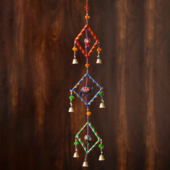 -eCraftIndia-Handcrafted-Decorative-Colorful-Squares-with-Gota-Patti-Wall/Door/Window-Hanging-Bells_1