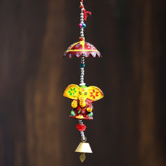 STRGAN501--eCraftIndia-Handcrafted-Decorative-Lord-Ganesha-Wall/Door/Window-Hanging-Bell_1