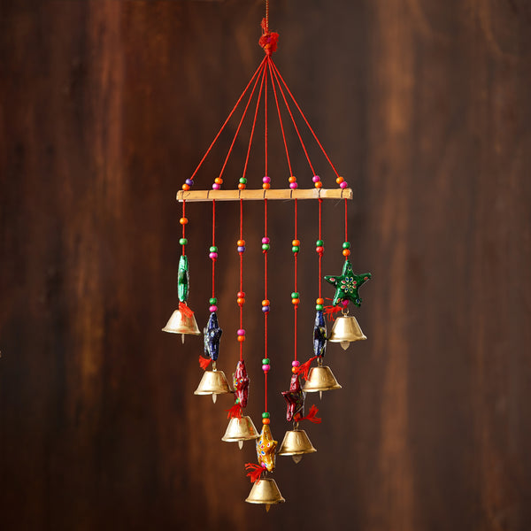 -eCraftIndia-Handcrafted-Decorative-Colorful-Stars-Wall/Door/Window-Hanging-Bells_1