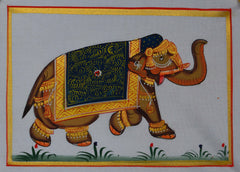 SUN100-eCraftIndia-Royal-Elephant-Original-Art-Silk-Painting_1