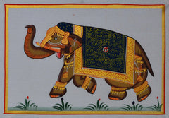 SUN102-eCraftIndia-Royal-Elephant-Original-Art-Silk-Painting_1