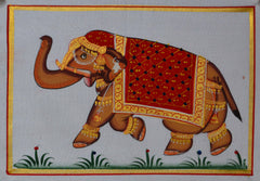 SUN104-eCraftIndia-Royal-Elephant-Original-Art-Silk-Painting_1