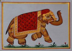 SUN105-eCraftIndia-Royal-Elephant-Original-Art-Silk-Painting_1