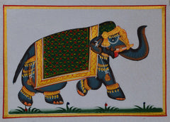 SUN106-eCraftIndia-Royal-Elephant-Original-Art-Silk-Painting_1