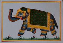 SUN107-eCraftIndia-Royal-Elephant-Original-Art-Silk-Painting_1