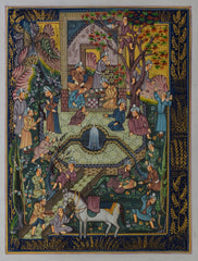 SUN162-eCraftIndia-Royal-Darbaar-Original-Art-Silk-Painting_1