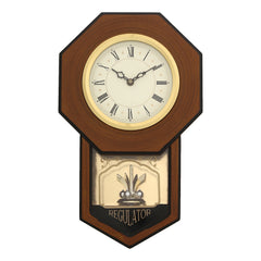 WCW0337_BROWN_RF-eCraftIndia-Brown-Round-Pendulum-Wooden-Wall-Clock_1