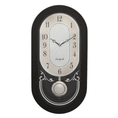 WCW8177_BLACK-eCraftIndia-Black-Oval-Pendulum-Wooden-Wall-Clock_1