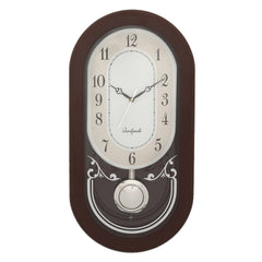WCW8177_ROSEWOOD-eCraftIndia-Brown-Oval-Pendulum-Wooden-Wall-Clock_1
