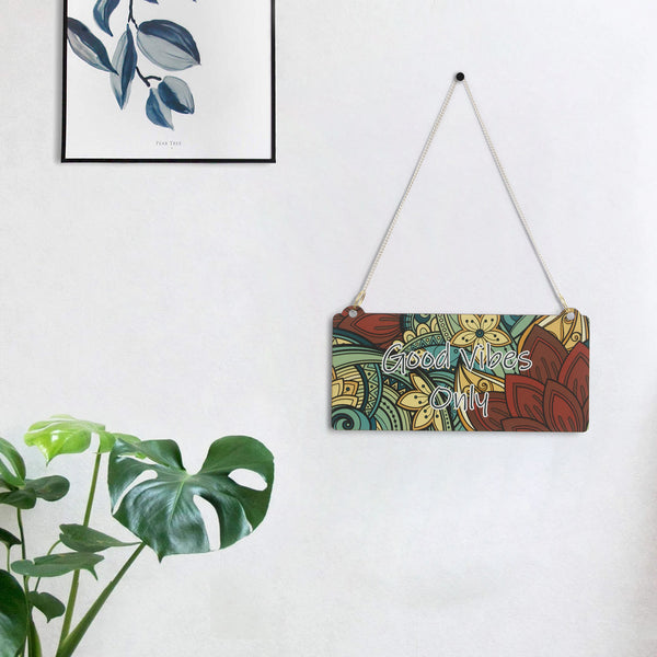 "ecraftindia-wooden-ethnic-look-multicolor-""good-vibes-only""-decorative-wall-hanging-with-chain_1"