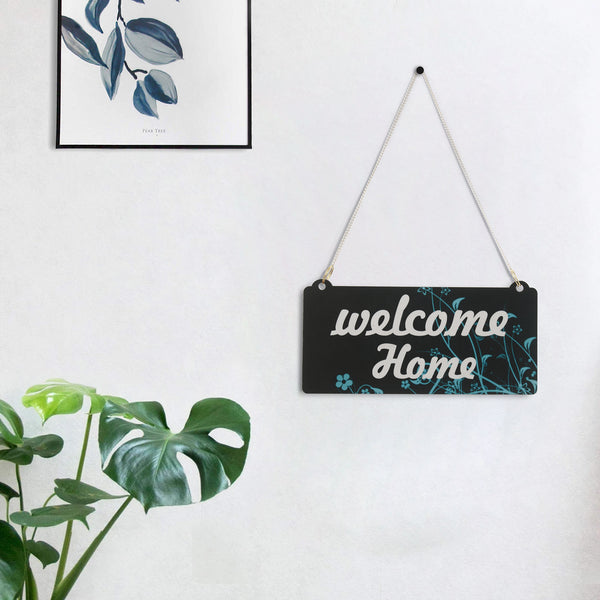 "ecraftindia-wooden-ethnic-look-multicolor-""welcome-home""-decorative-wall-hanging-with-chain_1"