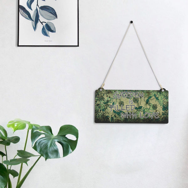 "ecraftindia-wooden-floral-look-multicolor-""garden-is-filled-with-love""-decorative-wall-hanging-with-chain_1"