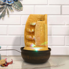 WFCW0011_LB_SF-eCraftIndia-Light-Brown-Designer-4-Step-Stone-Finish-Polyresin-Water-Fountain-With-Led-Lights-16.5-X-10.5-Inch_1